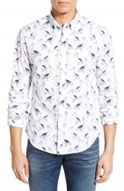 Bonobos Pelican Party Slim Fit Poplin Sport Shirt at Nordstrom