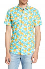 Bonobos Riviera Slim Fit Orange Print Shirt   Nordstrom at Nordstrom