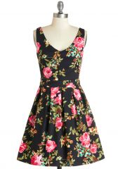 Bookmaking Brunch Dress in Black at ModCloth