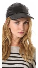 Bop Basics Leather Baseball Hat at Shopbop
