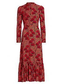Borgo de Nor - Rafaela Printed Crepe Dress at Saks Fifth Avenue