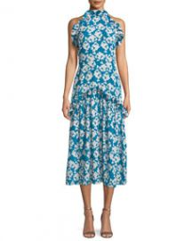Borgo de Nor Dora Floral-Print Halter Midi Dress at Bergdorf Goodman