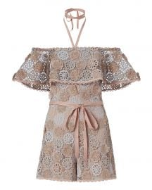 Boriana Floral Lace Romper at Intermix