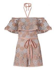Boriana Floral Lace Romper by Alexis at Intermix