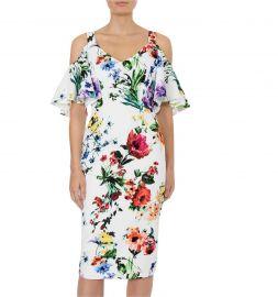Botanica Cold Shoulder Dress by Anthea Crawford at Anthea Crawford