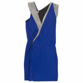 Bouchra Jarrar Blue Striped Dress at Vestaire Collective