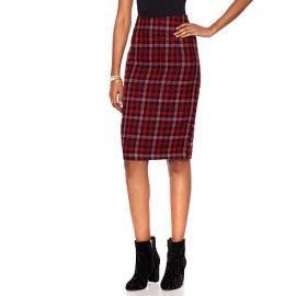 Boucle Pencil Skirt by HSN by Wendy Williams HSN Collection at HSN