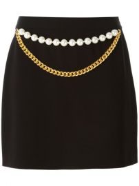 Boutique Moschino Chain And Faux Pearl Embellished Skirt - Wellens Women at Farfetch