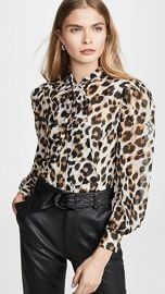 Boutique Moschino Leopard Blouse at Shopbop