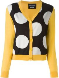 Boutique Moschino Polka Dot Panel Cardigan  - Verso at Farfetch