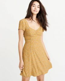 Bow Back Skater Dress by Abercrombie & Fitch at Abercrombie & Fitch