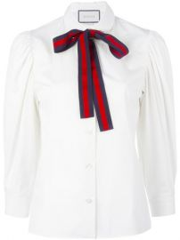 Bow Detail Shirt by Gucci at Farfetch
