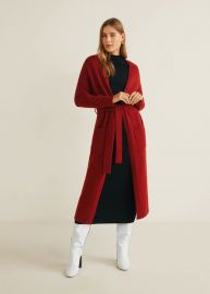 Bow Long Cardigan at Mango