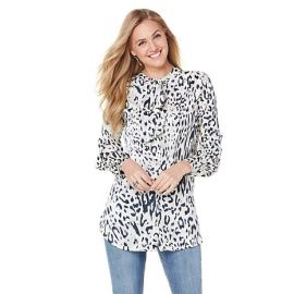 Bow Tie Blouse at HSN