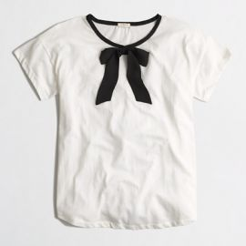 Bow tee at J. Crew Factory