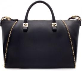 Bowling bag with zips at Zara