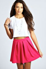 Box pleated skirt at Boohoo