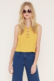 Boxy Lace-Up Top   Forever 21 - 2000152776 at Forever 21