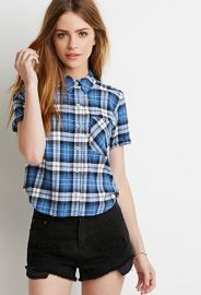 Boxy Plaid Shirt  Forever 21 - 2000076779 at Forever 21