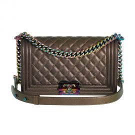 Boy Bag in Bronze Iridescent Rainbow by Chanel at Chanel