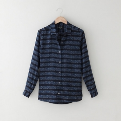 Boyfriend shirt in cobalt multi at Steve Alan