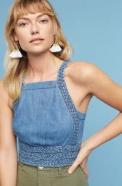 Braided Cropped Halter Top at Anthropologie