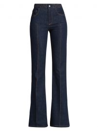 Braided Waist Flare Jeans by Chloe at Saks Fifth Avenue