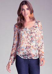 Branch print blouse at Bebe
