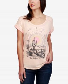 Brand Desert Dreamer Graphic Split-Back T-Shirt at Macys