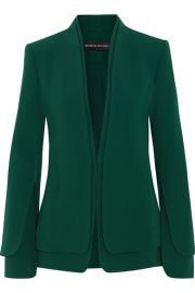 Brandon Maxwell - Layered stretch-crepe blazer at Net A Porter