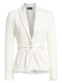Brandon Maxwell - Wrap Front One-Button Blazer at Saks Fifth Avenue