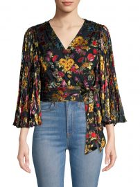 Bray Floral-Print Chiffon Wrap Top at Saks Fifth Avenue