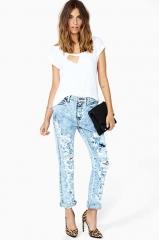 Breakup Shredded Jeans at Nasty Gal