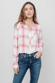 Breast Cancer Awareness Hunter Button Down by Rails at Rails