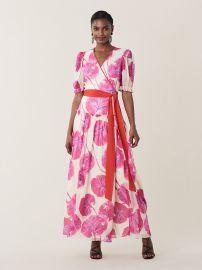 Breeze Floral-Print Silk Long Wrap Dress by Diane von Furstenberg at DvF