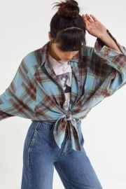 Brendan Drapey Flannel Button-Down Shirt by Urban Outfitters at Urban Outfitters