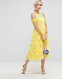 Bright Embellished Cut Out Midi Dress Asos at Asos