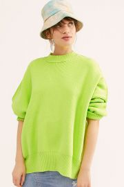 Bright Lime Easy Street Tunic at Free People