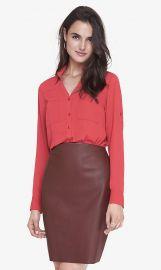 Bright Salmon Convertible Sleeve Portofino Shirt at Express