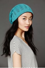 Bright blue beanie at Free People