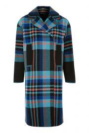 Bright checked coat at Topshop