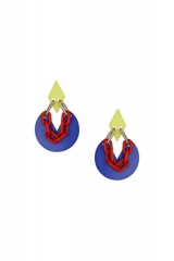 Brightly colored plastic earrings at Topshop