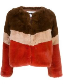 Brigitte faux-fur jacket at Farfetch