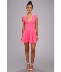 Brigitte Bailey Lauren Scuba Fit N Flare Dress Hot Pink at Zappos