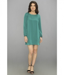 Brigitte Bailey Skyler Shift Dress Dark Green at Zappos