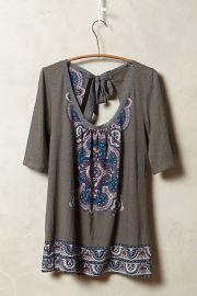 Brillian Bowknot Tee at Anthropologie