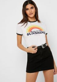 Bring on the Sunshine Ringer tee by Forever 21 at Forever 21
