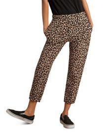 Bristol Leopard-Print Cropped Sweatpants at Bloomingdales