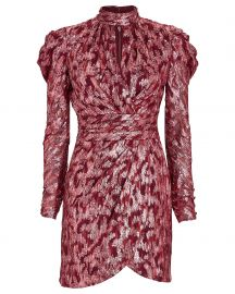 Brocade Mini Wrap Dress at Intermix