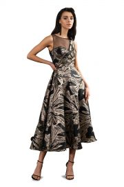 Brocade Tea Length Gown at Theia